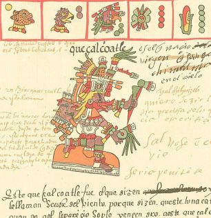 Aztec god, Quetzalcoatl_16th century