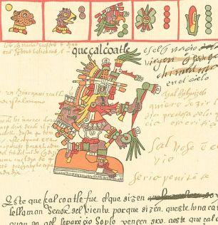 Aztec god, Quetzalcoatl_16th century