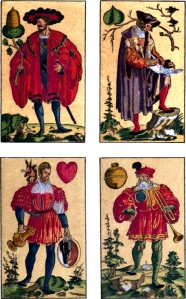 Heart Shapes on 1545 German Card Deck